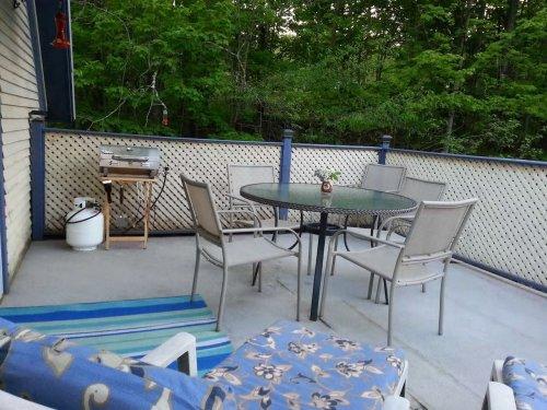 Grande terrasse privée avec BBQ du loft